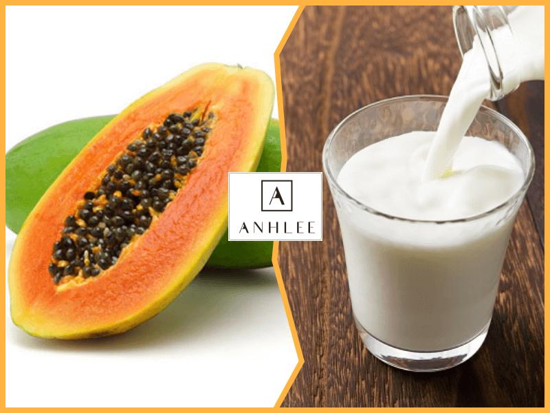 Cách tẩy lông chân vĩnh viễn tại nhà bằng sữa tươi với đu đủ
