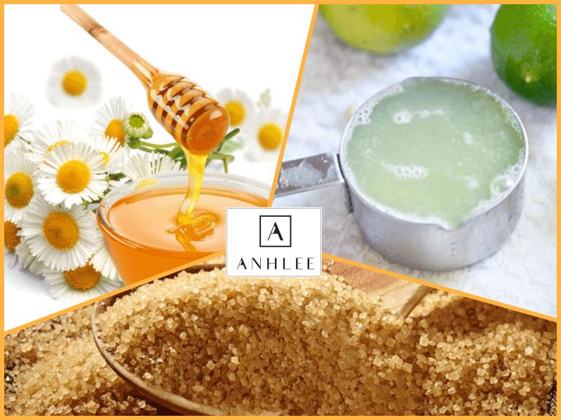 Cách tẩy lông chân bằng đường nâu, mật ong và chanh