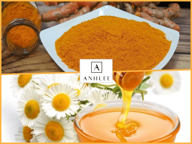Tẩy lông chân bằng mật ong và bột nghệ