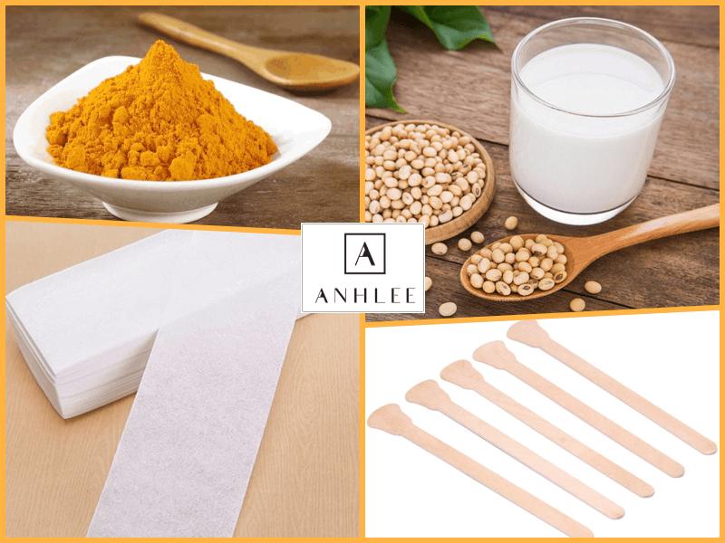 Cách triệt lông mặt bằng bột nghệ và sữa đậu nành
